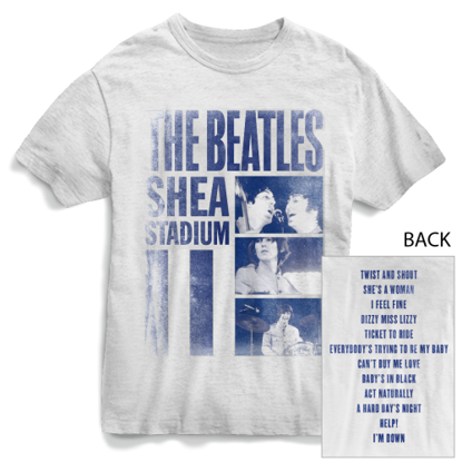 Picture of Beatles Adult T-Shirt: Shea Stadium (White)