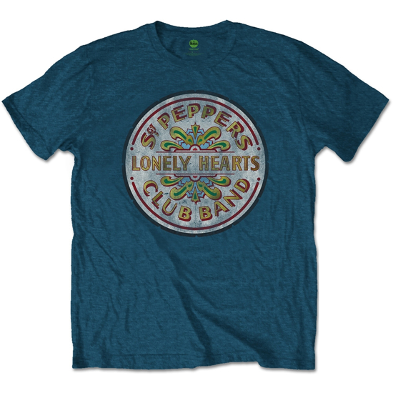 Picture of Beatles Adult T-Shirt: Sgt Pepper Seal (Blue)