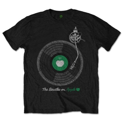 Picture of Beatles Adult T-Shirt: Beatles Turntable on Apple