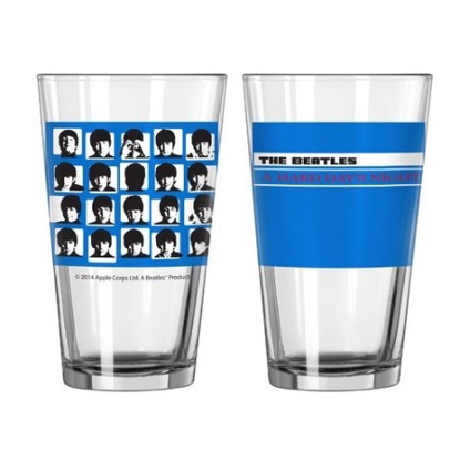Picture of Beatles Glass: Beatles Hard Day's Night Pint Glass