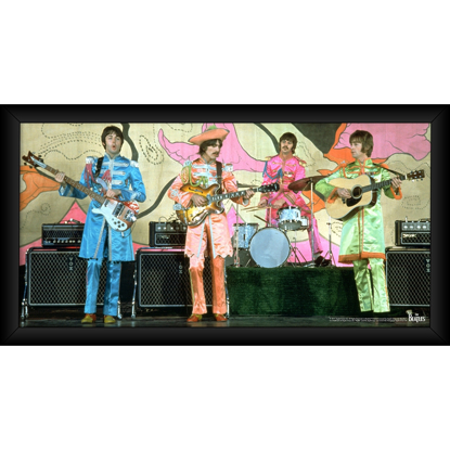 Picture of Beatles ART: The Beatles 1967 'Sgt. Pepper Lonely Hearts Costumes' 10x20 Framed Photo