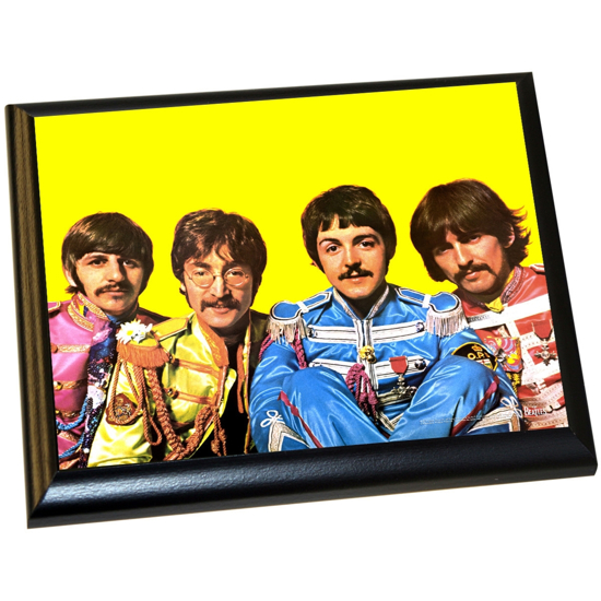 Picture of Beatles ART: The Beatles 'Sgt. Pepper Lonely Hearts Costumes' 8x10 Plaque