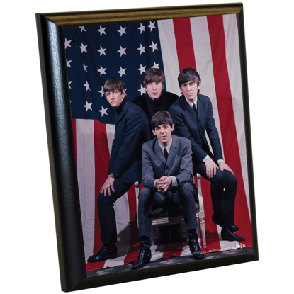 Picture of Beatles ART: The Beatles 'American Flag Group Shot' 8x10 Plaque