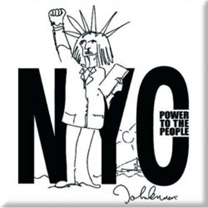 """Picture of Beatles Magnet: John Lennon """"NYC Power to the People"""""""