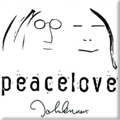 "Picture of Beatles Magnet: John Lennon ""Peace Love"""
