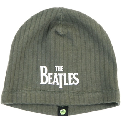 Picture of Beatles Beanie: Drop T Logo Olive Green