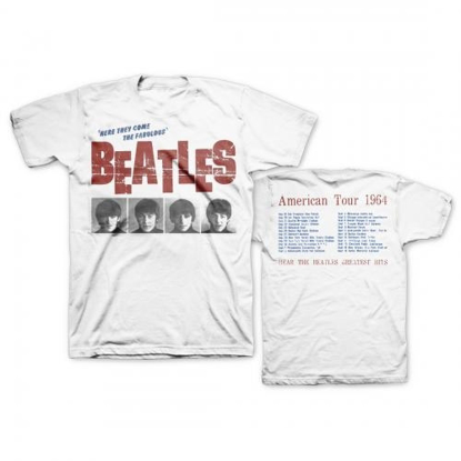 Picture of Beatles Adult T-Shirt: Beatles American Tour 1964 Cream