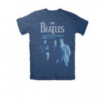 Picture of Beatles Adult T-Shirt: Beatles I am the Walrus Navy