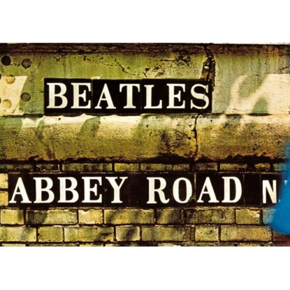 "Picture of Beatles Postcard Card: The Beatles ""Abbey Road Sign"" (Standard)"
