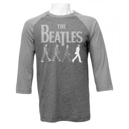 Picture of Beatles Adult T-Shirt: Abbey Road Raglan 2 Shades of Grey