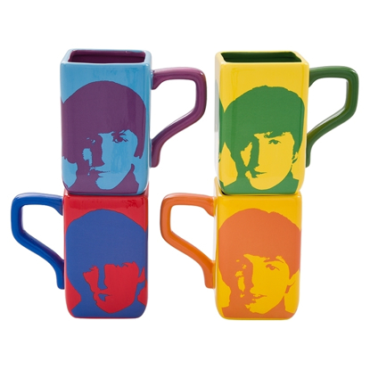 Picture of Beatles Mugs: Beatles for Sale in Color 4 piece Mug Set