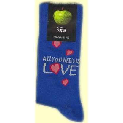 Picture of Beatles Socks: Women's All You Need Is Love (Blue)