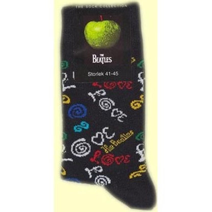Picture of Beatles Socks: Men's Love (Dark Blue)
