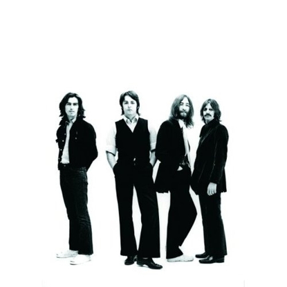 "Picture of Beatles Postcard Card: The Beatles ""White Background Portrait"" (Giant)"