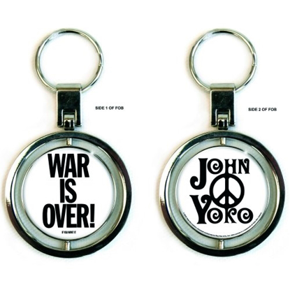 Picture of John Lennon Spinner Keychain: War Is Over
