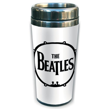 Picture of Beatles Travel Mug: The Beatles Drum Logo Ceramic Travel Mug
