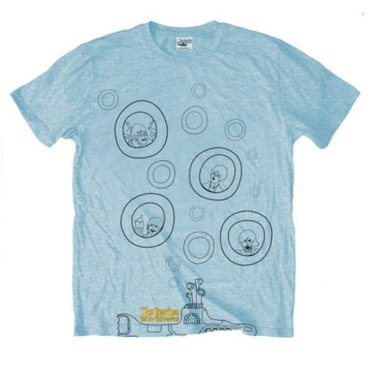 Picture of Beatles Adult T-Shirt: Yellow Submarine More Bubbles
