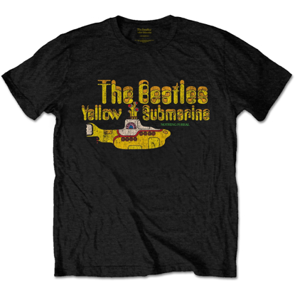 Picture of Beatles Adult T-Shirt: Yellow Submarine Nothing is Real Tee - Black