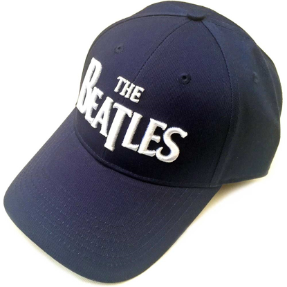Picture of Beatles Cap: The Beatles Drop T Logo  (Navy Blue)
