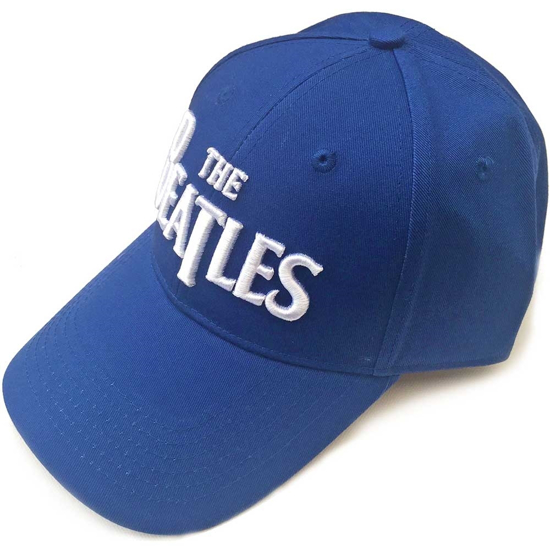 Picture of Beatles Cap: The Beatles Drop T Logo  (Mid Blue)