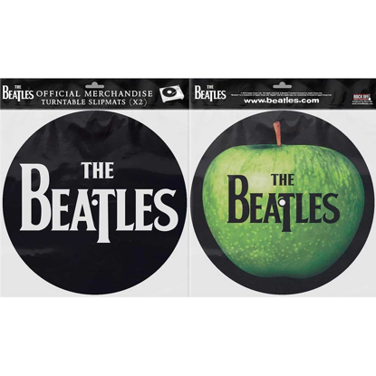 Picture of Beatles Slipmat Set: Drop T Logo & Apple