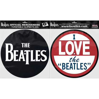 "Picture of Beatles Slipmat Set: Drop T Logo & I Love the ""Beatles"""
