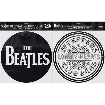 Picture of Beatles Slipmat Set: Drop T Logo & Sgt. Pepper Drum