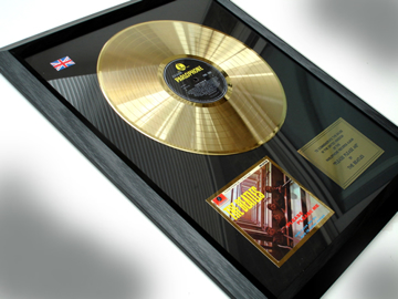 "Picture of Beatles Record Award: ""PLEASE PLEASE ME"" 24ct GOLD"