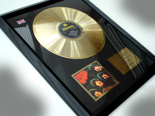 "Picture of Beatles Record Award: ""RUBBER SOUL"" 24ct GOLD"