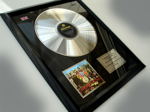 """Picture of Beatles Record Award: """"SGT PEPPER"""" PLATINUM"""