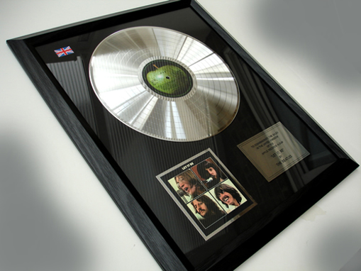 "Picture of Beatles Record Award: ""LET IT BE"" PLATINUM"