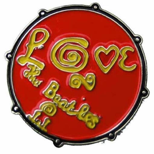 "Picture of Beatles Pin: The Beatles ""Love"" red pin"
