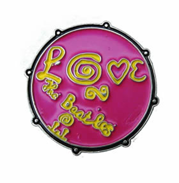 "Picture of Beatles Pin: The Beatles ""Love"" pink pin"