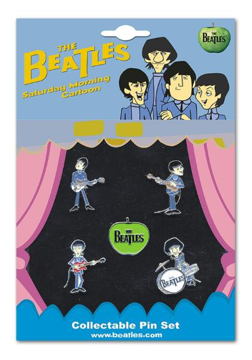 Picture of Beatles Pins: Cartoon Collectable Pin Set