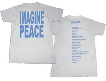 "Picture of Beatles T-Shirt: John Lennon ""IMAGINE"" White with Blue Print"