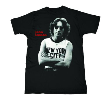 Picture of T-Shirt: John Lennon New York City pose/Black & White