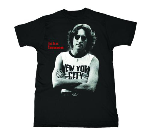 T Shirt John Lennon New York City Pose Black White Beatles Fab Four Store Exclusively Beatles Only Official Merchandise