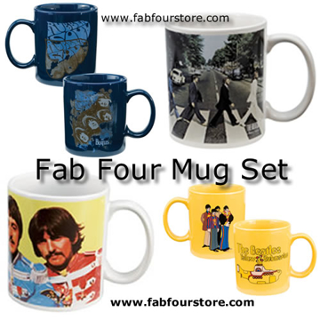 Picture of Beatles Mugs: Set of Fab Four Beatles Mugs