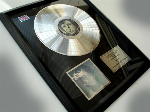 """Picture of Beatles Record Award: """" IMAGINE"""" PLATINUM"""