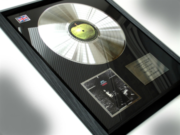 "Picture of Beatles Record Award: ""ROCK & ROLL"" PLATINUM"