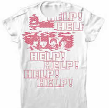 "Picture of Beatles T-Shirt: The Beatles Junior White HELP! ""Puzzled"""