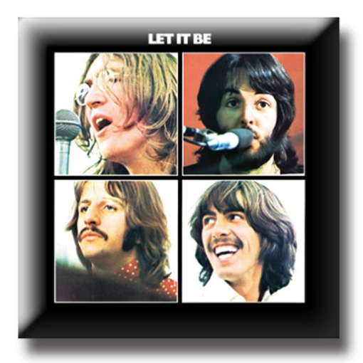 """Picture of Beatles Pin: The Beatles """"Let it Be"""" flat pin"""