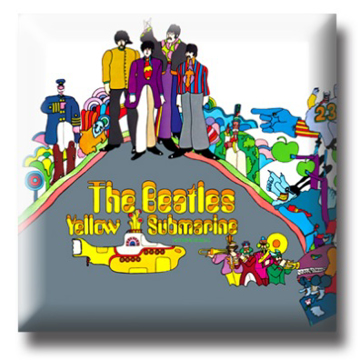 "Picture of Beatles Pin: The Beatles ""Yellow Submarine "" flat pin"