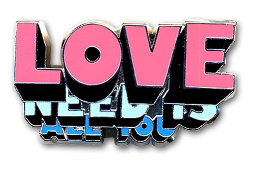 """Picture of Beatles Pin: The Beatles """"All You Need Is Love"""" pin"""