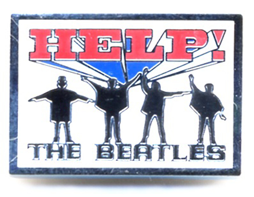 """Picture of Beatles Pin: The Beatles """"Help!"""" pin"""