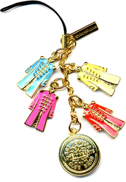 Picture of Beatles Phone Charm: Sgt Pepper Coats (Metal)