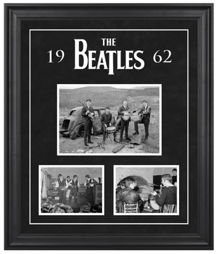 "Picture of Beatles ART:The Beatles ""1962"" framed presentation"