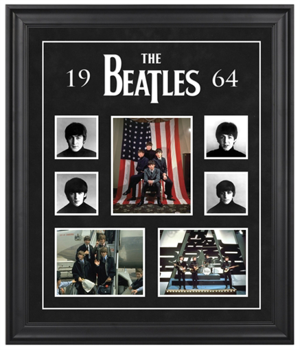 "Picture of Beatles ART: The Beatles ""1964"" framed presentation"