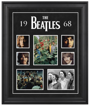 "Picture of Beatles ART: The Beatles ""1968"" framed presentation"