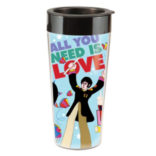 "Picture of Beatles Mug: The Beatles ""Yellow Submarine"" 16 oz. Plastic Travel Mug"